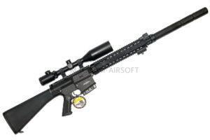 Винтовка SR25 с глушителем (GR25 Sniper ) EGR-025-SNP-BNB-NCM (125-135 m/s) Black (G&G)
