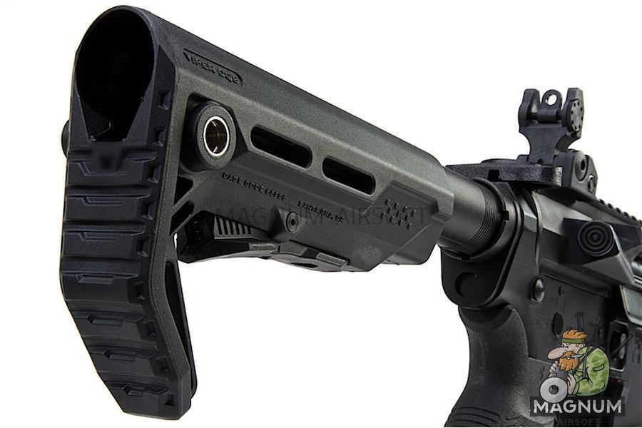 G&P Transformer Compact M4 Airsoft AEG with 12 inch QD Front Assembly Ranier Brake - Black