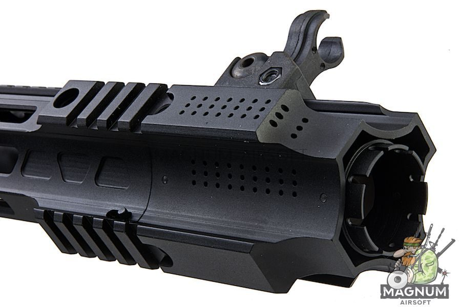 EMG Salient Arms Licensed GRY AR15 (M4) CQB AEG with Stubby Stock - Black (by G&P)