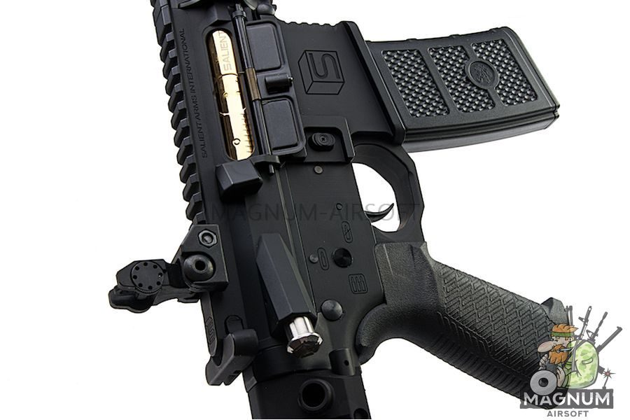 EMG Salient Arms Licensed GRY AR15 (M4) CQB AEG with PDW Stock - Black (by G&P)