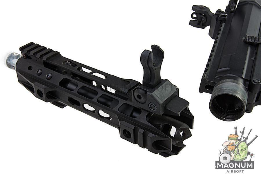 G&P Transformer Compact M4 AEG w/ QD Front Assembly Ranier Brake - New marking
