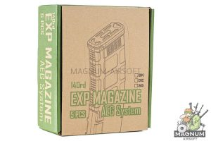 EXP 140rds PMG 3 Magazine for M4 AEG Series (5pcs / Set) - DE