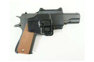 ПИСТОЛЕТ COLT1911 Classic black (Galaxy) с кобурой G.13+ SPRING
