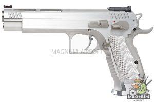 Gunsmith Bros GB01 TF Aluminum 5.5 inch GBB Pistol - Silver