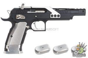 Gunsmith Bros GB01 TF Aluminum Open GBB Pistol - Black