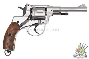 Gun Heaven (WinGun) 721 Nagant M1895 4 inch 6mm CO2 Revolver - Silver