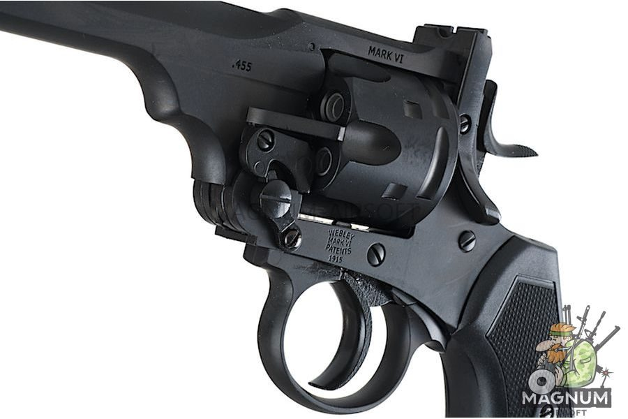 Gun Heaven (WinGun) 792 Webley MK VI  6mm Co2 Revolver - Black