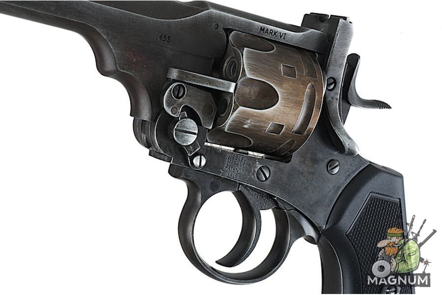 Gun Heaven (WinGun) 792 Webley MK VI  6mm Co2 Revolver - Weathered Version