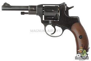 Gun Heaven (WinGun) 721 Nagant M1895 4 inch 6mm CO2 Revolver Weathered - BK