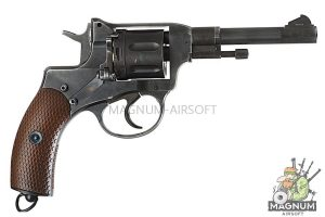 Gun Heaven (WinGun) 721 Nagant M1895 4 inch 6mm CO2 Revolver Weathered - BK
