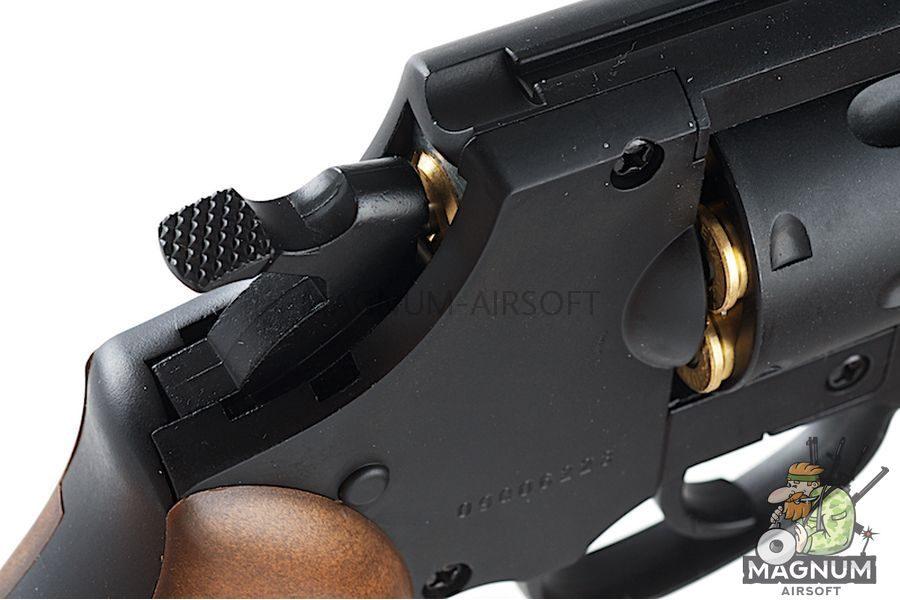 Gun Heaven (WinGun) 733 2inch 6mm Co2 Revolver (Brown Grip) - BK