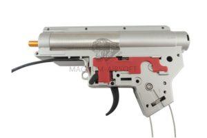 ГИРБОКС High-profile в сборе ver2 QD ZCAIRSOFT M-14 - шестерни CNC 18:1, быстрая замена пружины, 8mm втулки, микрик, проводка вперед