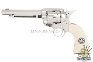 Umarex SAA .45 Co2 (GK Custom 6mm Version) Metal Revolver (Nickel Pearl) - Cowboy Police Version (by WinGun)