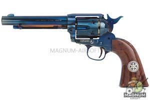 Umarex SAA .45 Co2 (GK Custom 6mm Version) Metal Revolver (Blue / Brown) - Cowboy Police Version (by WinGun)