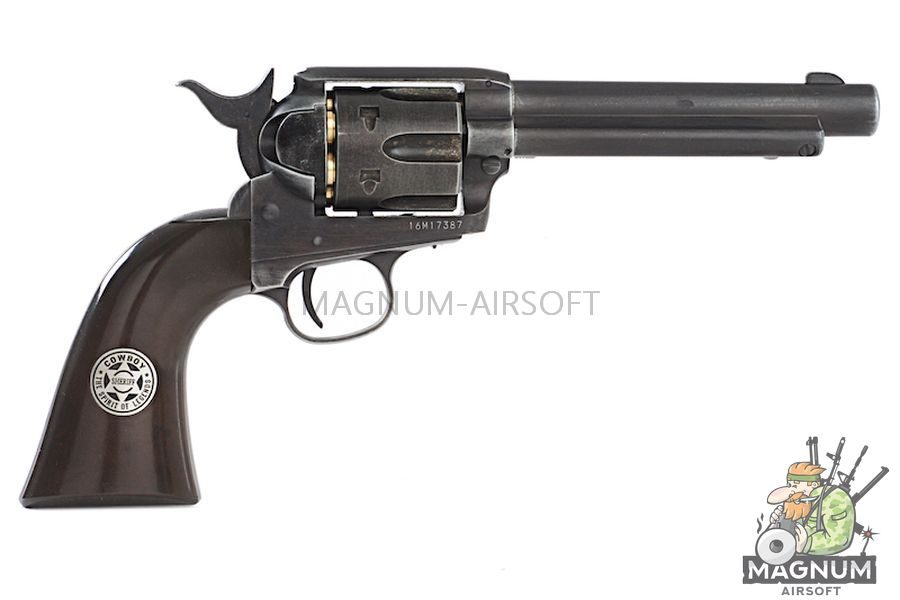 Umarex SAA .45 Co2 (GK Custom 6mm Version) Metal Revolver (Antique Black) - Cowboy Police Version (by WinGun)