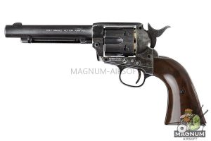 Umarex SAA .45 Co2 (GK Custom 6mm Version) Metal Revolver (Antique Black) (by WinGun)