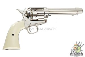 Umarex SAA .45 Co2 (GK Custom 6mm Version) Metal Revolver (Nickel Pearl) (by WinGun)