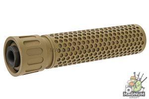 GK Tactical KAC QDC Suppressor (14mm CCW) - TAN