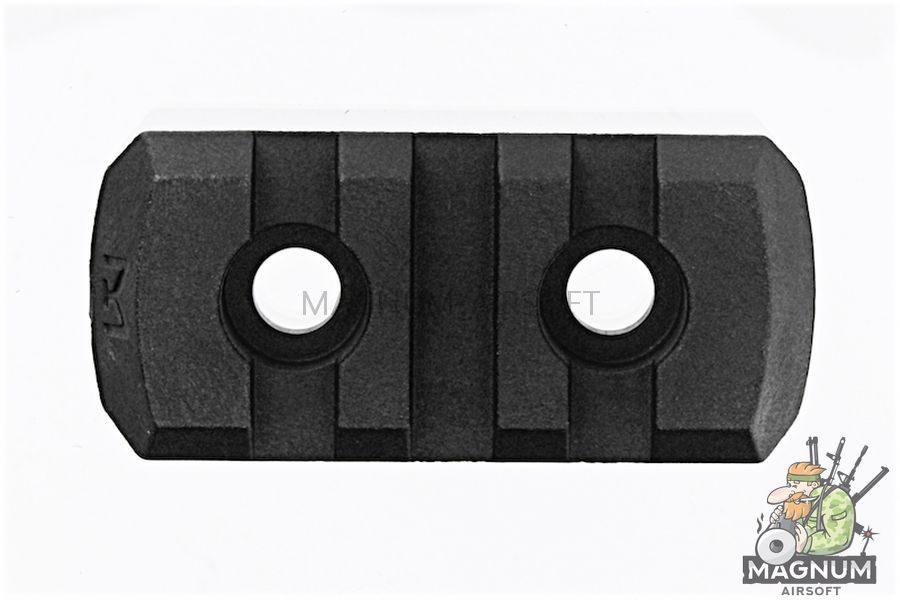 GK Tactical M-LOK Nylon 3 Picatinny Rail Sections (4pcs / Set) - Black