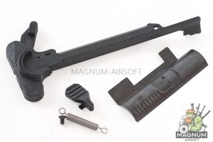 G&P Plastic M4 Charging Handle & Bolt Stop Set for Tokyo Marui & G&P M4A1 Series Metal Body - Black