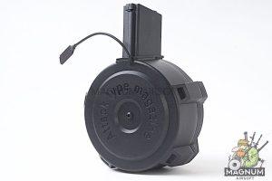 G&P 1700rds Attack Type Auto Winding Drum Magazine II for Tokyo Marui M16 Series