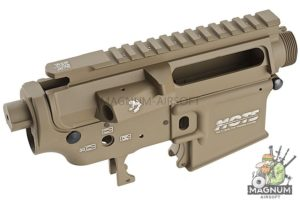 G&P MOTS Taper Metal Receiver for Tokyo Marui M4 / M16 Series & G&P F.R.S Series (Dark Earth)