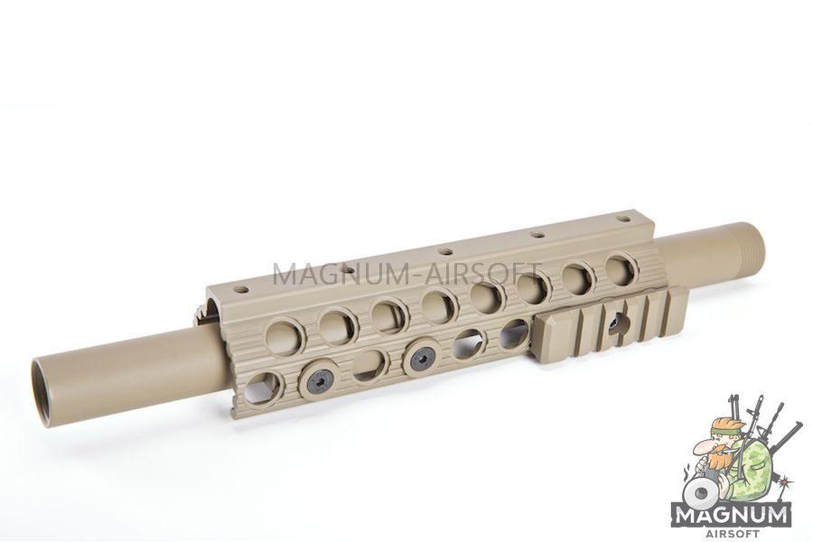 G&P Shotgun ForeArm Set B for G&P M870 Series (Half Rail) - Sand