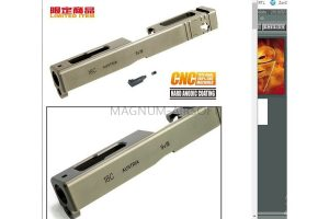 Guarder 7075 Aluminum CNC Slide for TM G18C (TAN)