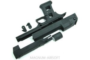 Guarder Aluminum Slide & Frame for MARUI Desert Eagle .50 - (Black/None Drawing)