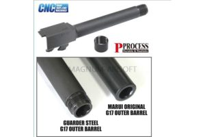 Guarder Steel Threaded Outer Barrel for TM G17 (14mm Negative) 2012 ver.