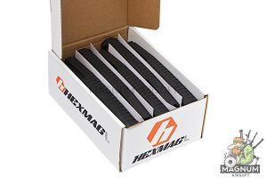 HEXMAG 120rds Magazines for M4 AEG Series (5pcs / Pack) - BK