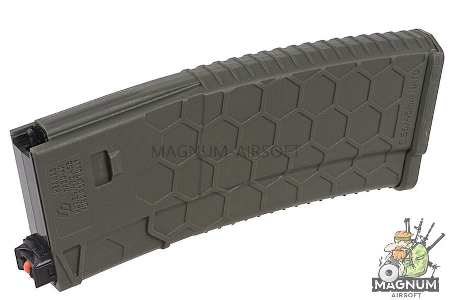HEXMAG 120rds Magazine for Systema PTW M4 (5pcs / pack) - Olive Drab