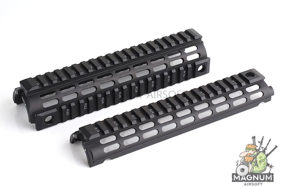 IMI Defense Aluminium Quad Rail Mid Length Drop In for M4 / M16 Series - BK