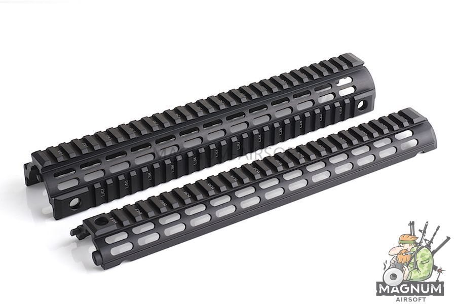 IMI Defense Aluminium Quad Rail Rifle Length Drop In for M4 / M16 Series - BK