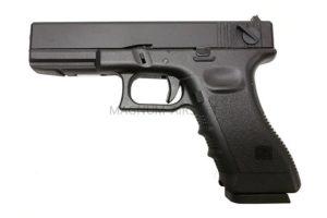 Пистолет KJW GLOCK G18 GBB CO2, авт., мет. слайд, модель - KP-18-MS.CO2-BK