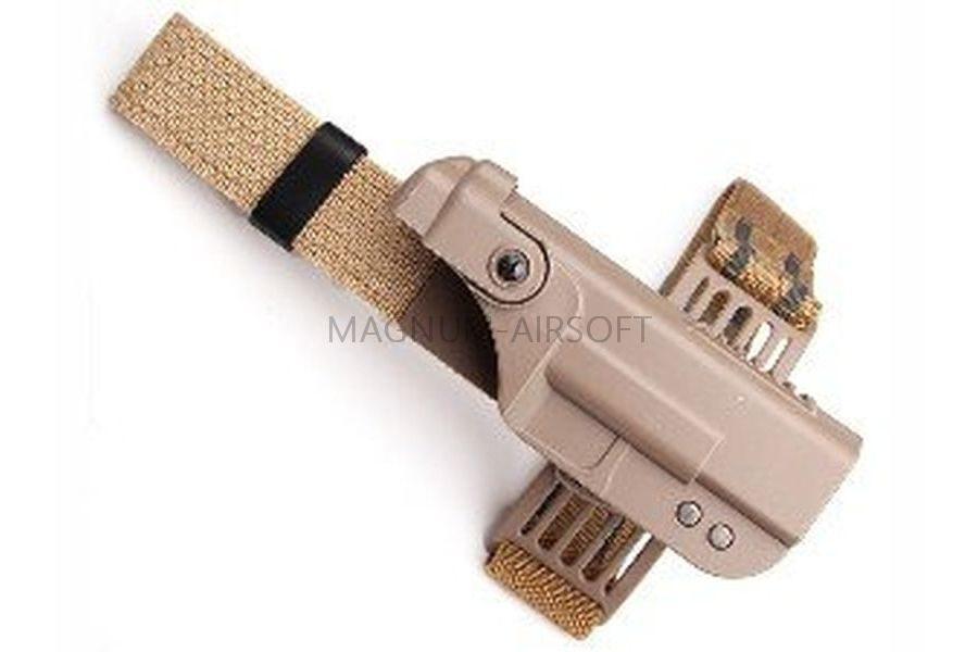 КОБУРА пластиковая  Quick Draw Drop Leg RH for Glock TAN AS-HL0013T