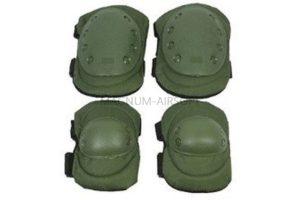 Комплект наколенники и налокотники Green WS20153G AS-PG0022OD