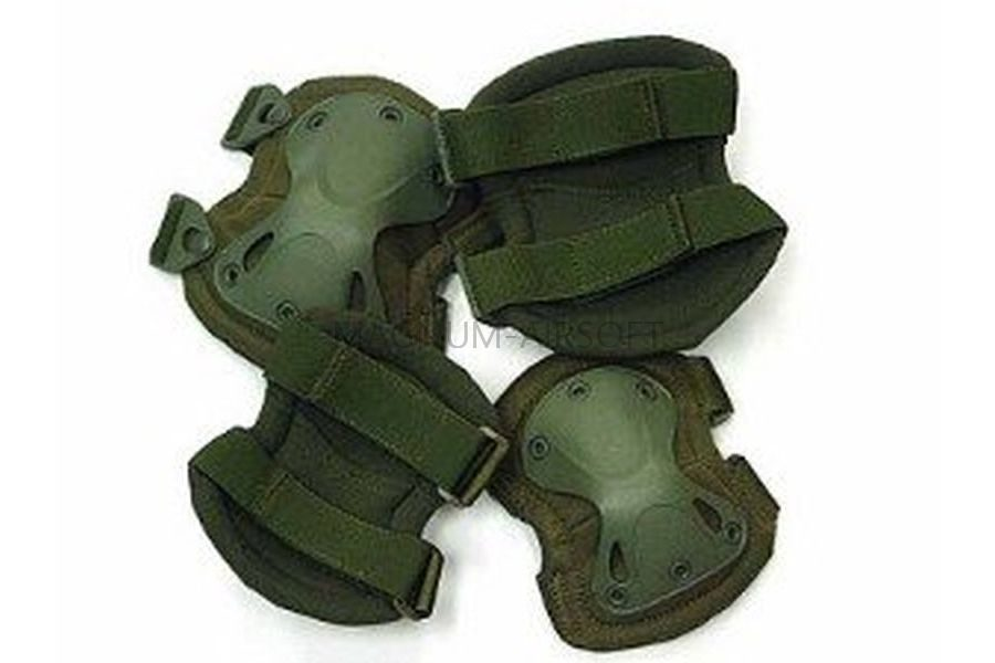 Комплект наколенники и налокотники SWAT X-Cap Green WS20152G AS-PG0021OD