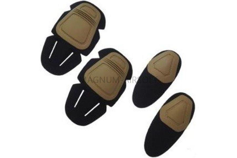 КОМПЛЕКТ НАКОЛЕННИКИ И НАЛОКОТНИКИ Upgrade Version Combat Uniform для вставки в одежду AS-PG0025OD