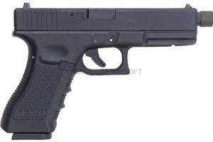 KP 18TBC MSCO2 BK 1 300x200 - Пистолет KJW GLOCK G18 GBB CO2 - KP-18TBC-MS.CO2-BK