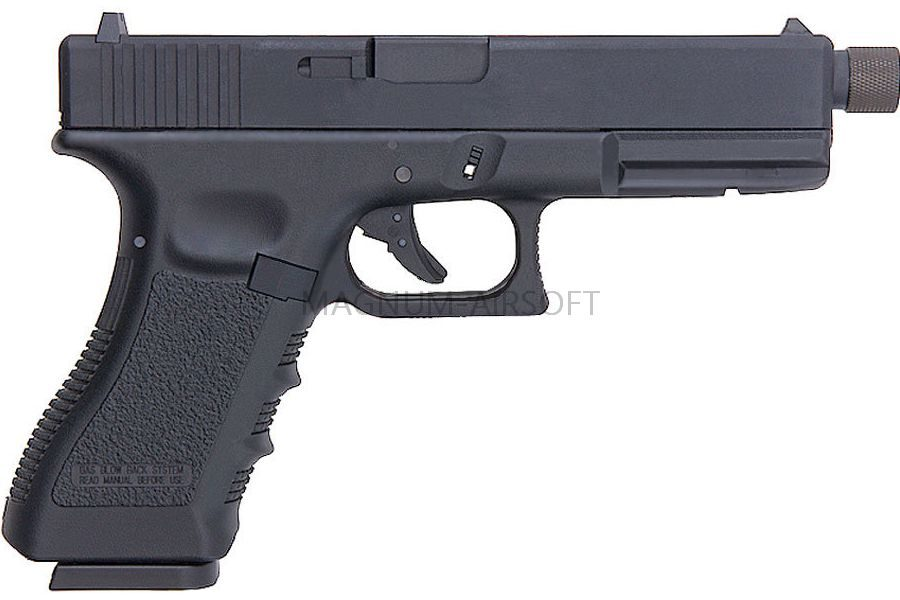KP 18TBC MSCO2 BK 1 900x600 - Пистолет KJW GLOCK G18 GBB CO2 - KP-18TBC-MS.CO2-BK