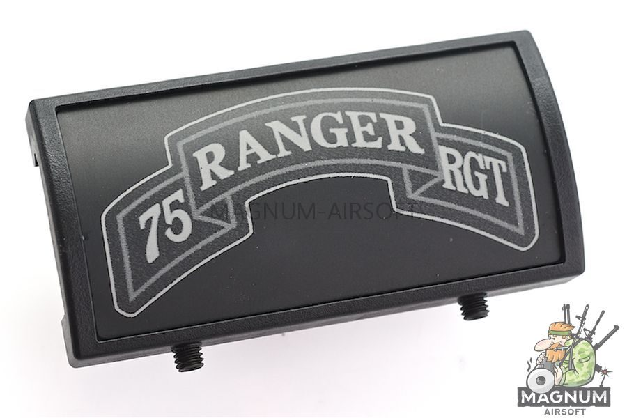 Custom Gun Rails (CGR) Aluminum Rail Cover (75 Ranger Regiment Scroll, Large Laser Engraved Aluminum) - BK Retainer