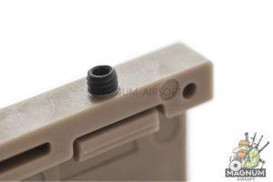 Custom Gun Rails (CGR) Aluminum Rail Cover (USAF, Large Laser Engraved Aluminum) - FDE Retainer