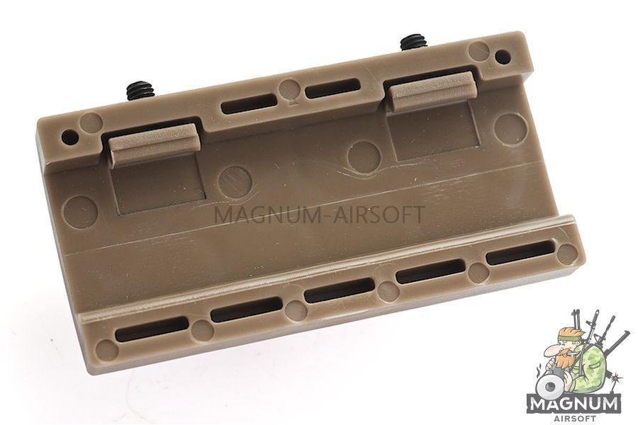 Custom Gun Rails (CGR) Aluminum Rail Cover (USAR, Large Laser Engraved Aluminum) - FDE Retainer