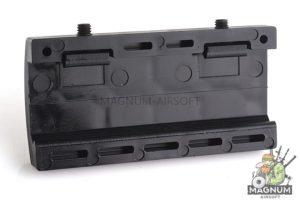 Custom Gun Rails (CGR) Aluminum Rail Cover (USMC, Large Laser Engraved Aluminum) - BK Retainer