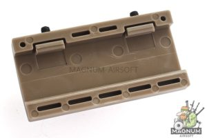 Custom Gun Rails (CGR) Aluminum Rail Cover (USMC, Large Laser Engraved Aluminum) - FDE Retainer