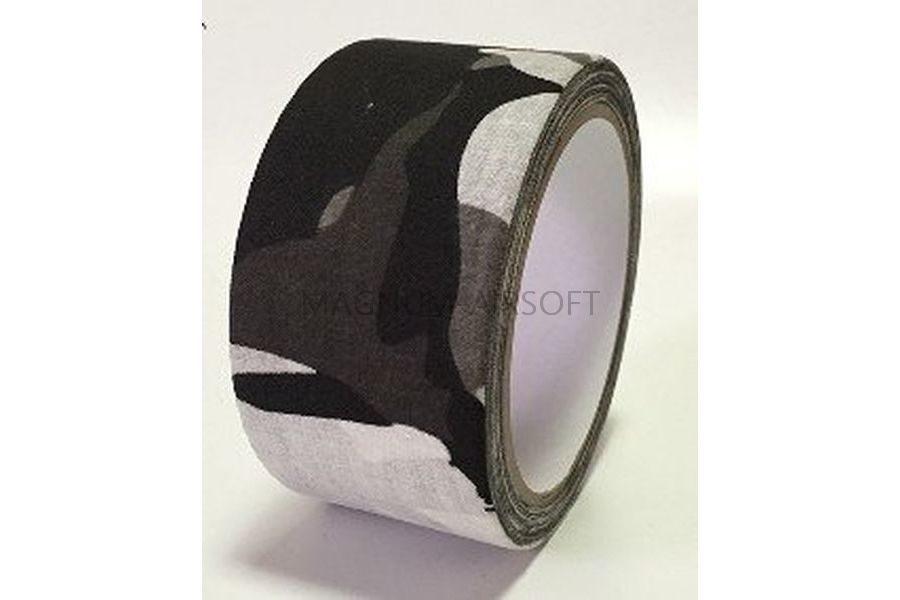 ЛЕНТА КЛЕЙКАЯ 50мм Black-White Camo  (10м) код AS-BL0010BWH