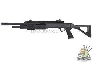 BO Manufacture FABARM Licensed STF12 18 inch Ressort Spring Shotgun - Black