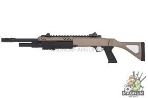 BO Manufacture FABARM Licensed STF12 18 inch Ressort Spring Shotgun - FDE