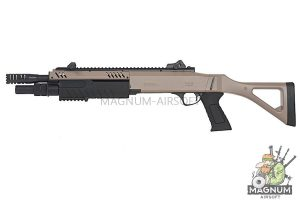 BO Manufacture FABARM Licensed STF12 11 inch Compact Spring Shotgun - FDE